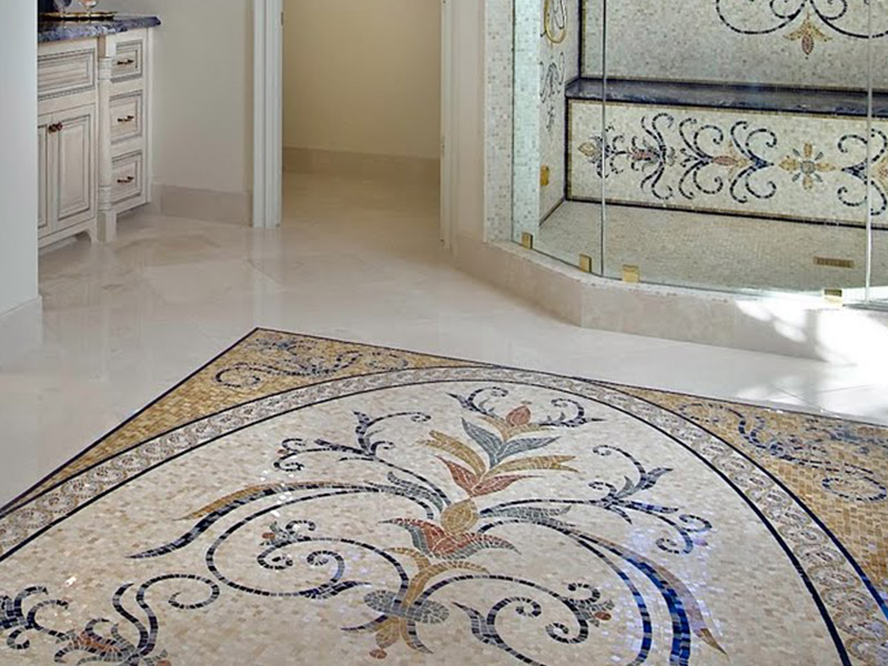 Pavimenti In Cotto Con Mosaico : Vendita e posa pavimento con mosaici in marmo a brescia
